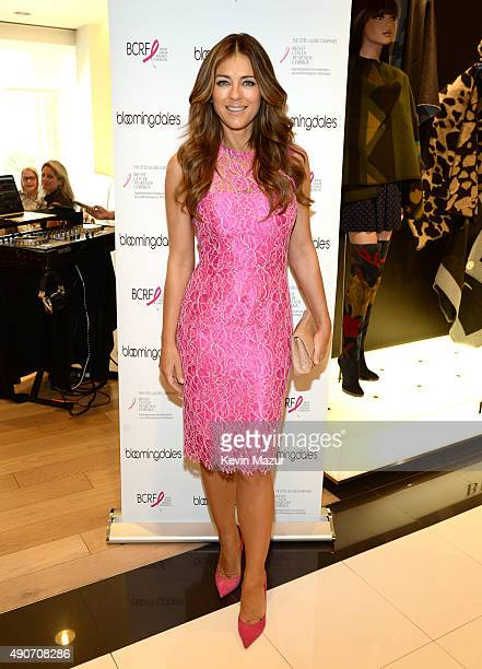 Elizabeth Hurley attends Bloomingdales's Kicks off Breast Cancer Awareness Month with Luncheon Hosted by The Estee Lauder Companies' Breast Cancer...