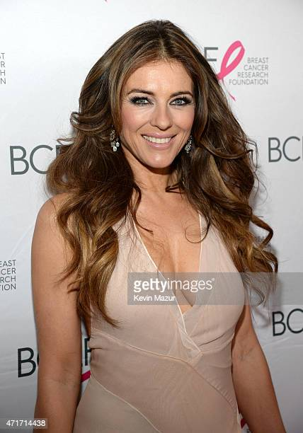 Elizabeth Hurley attends Breast Cancer Research Foundation's Hot Pink Party The Pink Standard at Waldorf Astoria Hotel on April 30 2015 in New York...