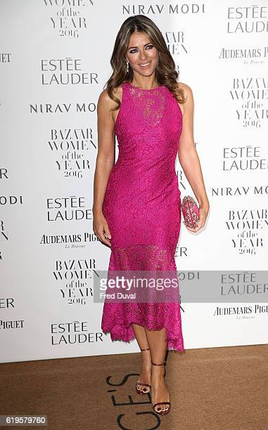 Elizabeth Hurley attends Harper's Bazaar Women Of The Year Awards at Claridge's Hotel on October 31 2016 in London England