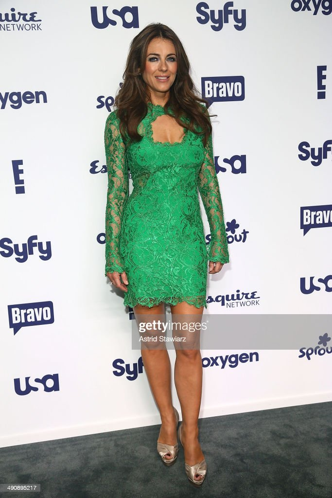<a gi-track='captionPersonalityLinkClicked' href=/galleries/search?phrase=Elizabeth+Hurley&family=editorial&specificpeople=201731 ng-click='$event.stopPropagation()'>Elizabeth Hurley</a> attends the 2014 NBCUniversal Cable Entertainment Upfronts at The Jacob K. Javits Convention Center on May 15, 2014 in New York City.