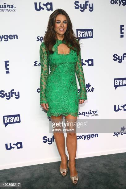 Elizabeth Hurley attends the 2014 NBCUniversal Cable Entertainment Upfronts at The Jacob K Javits Convention Center on May 15 2014 in New York City