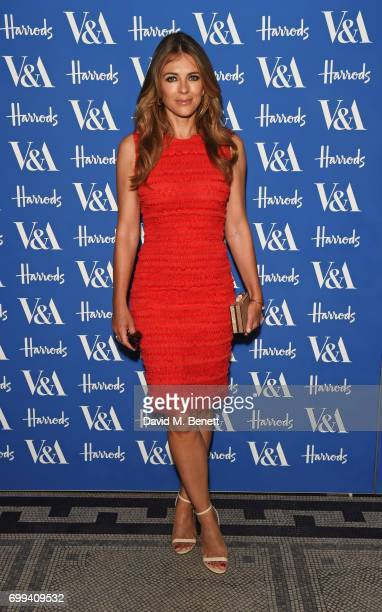 Elizabeth Hurley attends the 2017 annual VA Summer Party in partnership with Harrods at the Victoria and Albert Museum on June 21 2017 in London...