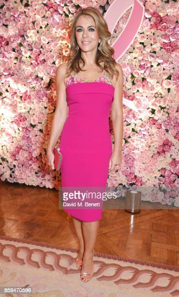 Elizabeth Hurley attends the 25th Anniversary of the Estee Lauder Companies UK's Breast Cancer Campaign at the US Ambassadors Residence Winfield...