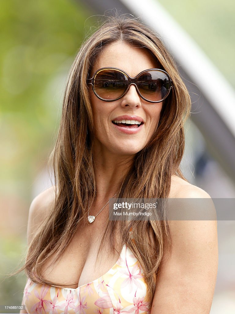 <a gi-track='captionPersonalityLinkClicked' href=/galleries/search?phrase=Elizabeth+Hurley&family=editorial&specificpeople=201731 ng-click='$event.stopPropagation()'>Elizabeth Hurley</a> attends the Betfair Weekend, featuring the King George VI and Queen Elizabeth Stakes, at Ascot Racecourse on July 27, 2013 in Ascot, England.