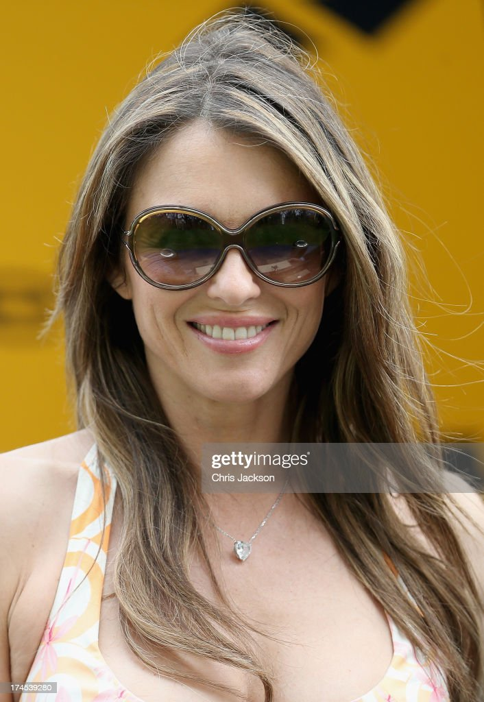 <a gi-track='captionPersonalityLinkClicked' href=/galleries/search?phrase=Elizabeth+Hurley&family=editorial&specificpeople=201731 ng-click='$event.stopPropagation()'>Elizabeth Hurley</a> attends the Betfair Weekend King George Day and Summer Garden Party at Ascot Racecourse on July 27, 2013 in Ascot, England.