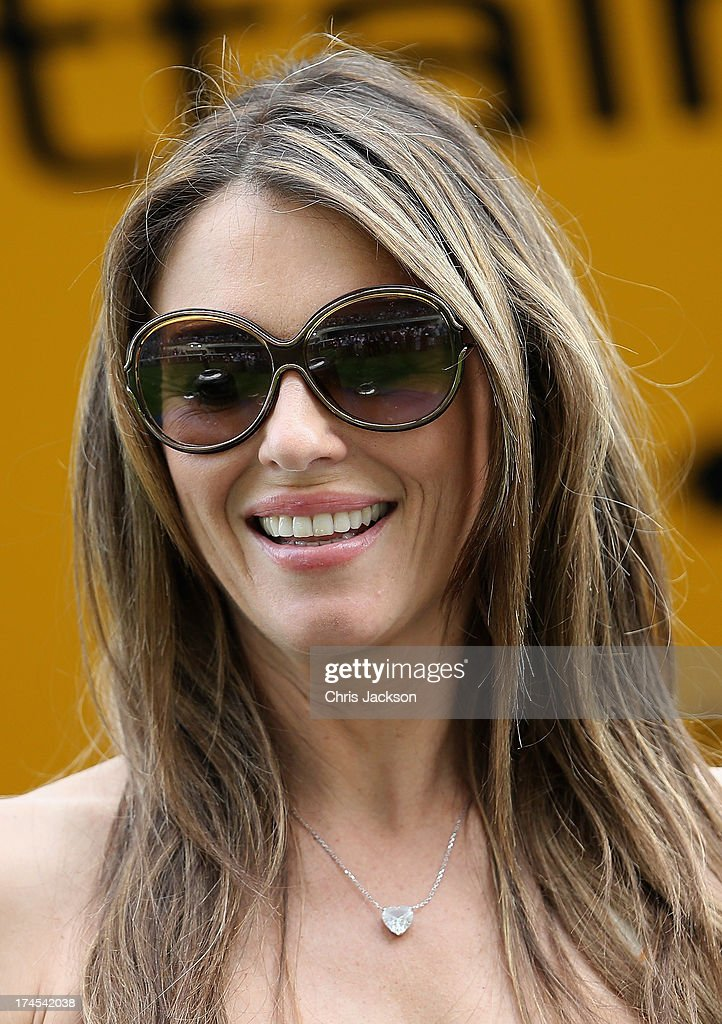 Elizabeth Hurley attends the Betfair Weekend King George Day and Summer Garden Party at Ascot Racecourse on July 27, 2013 in Ascot, England.