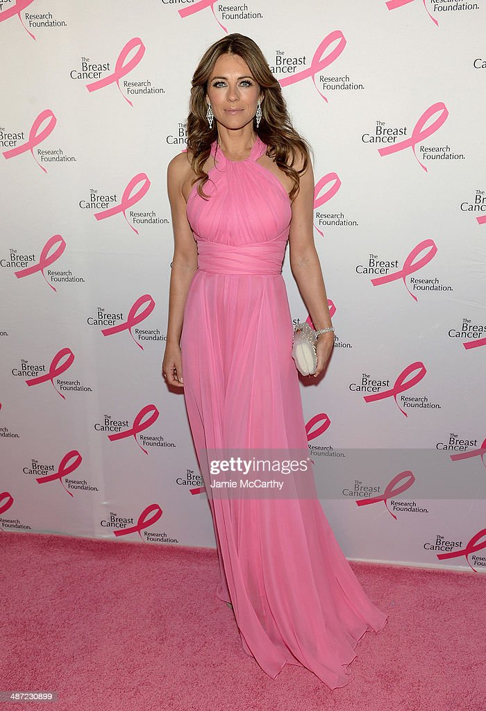 <a gi-track='captionPersonalityLinkClicked' href=/galleries/search?phrase=Elizabeth+Hurley&family=editorial&specificpeople=201731 ng-click='$event.stopPropagation()'>Elizabeth Hurley</a> attends The Breast Cancer Foundation's 2014 Hot Pink Party at Waldorf Astoria Hotel on April 28, 2014 in New York City.