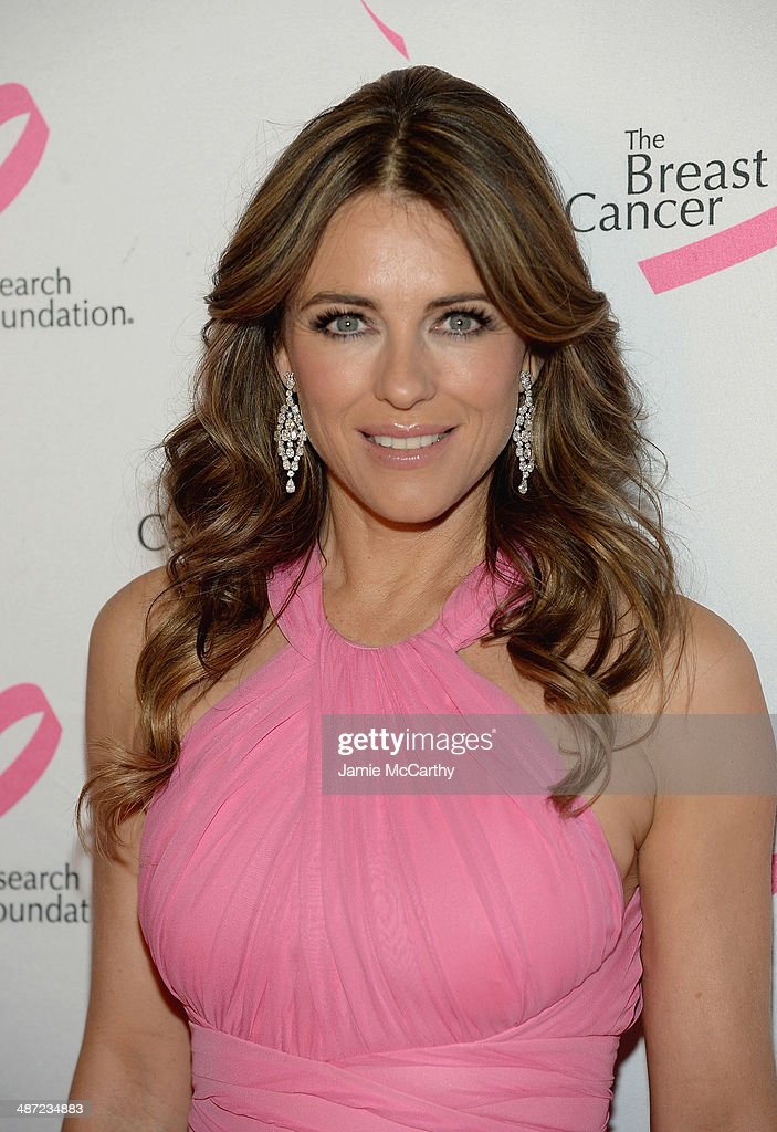 Elizabeth Hurley attends The Breast Cancer Foundation's 2014 Hot Pink Party at Waldorf Astoria Hotel on April 28, 2014 in New York City.