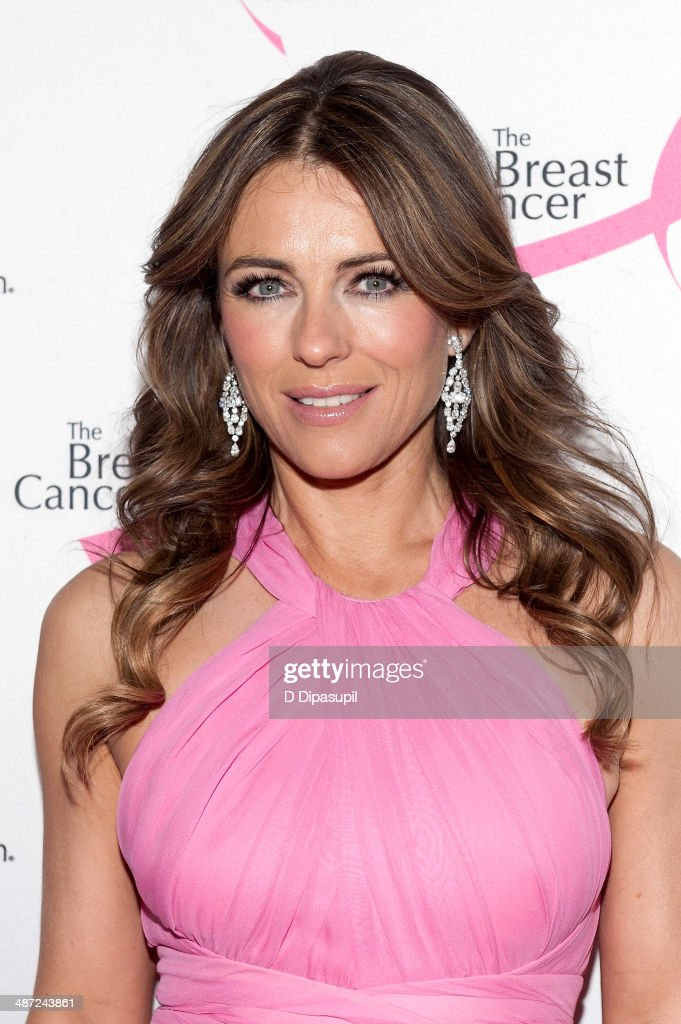 Elizabeth Hurley attends The Breast Cancer Research Foundation 2014 Hot Pink Party at The Waldorf=Astoria on April 28, 2014 in New York City.