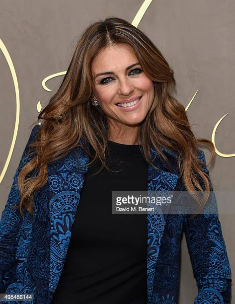 Elizabeth Hurley attends the Burberry Festive Film Premiere on November 3 2015 in London England