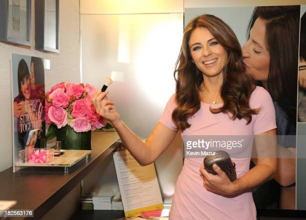 Elizabeth Hurley attends The EsteŽe Lauder Companies launch of The 2013 Breast Cancer Awareness Campaign 'Let's Defeat Breast Cancer 'We're Stronger...