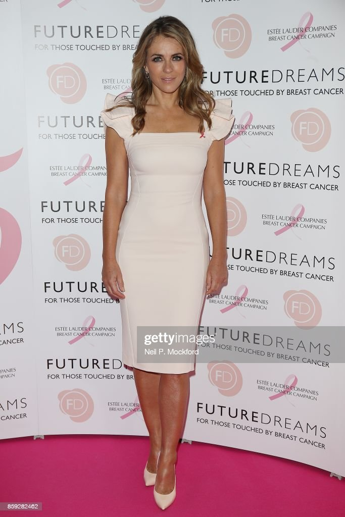 Elizabeth Hurley attends the 'Future Dreams' Fundraising Lunch at The Savoy Hotel on October 9, 2017 in London, England.