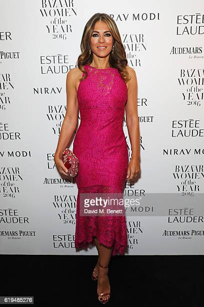 Elizabeth Hurley attends the Harper's Bazaar Women of the Year Awards 2016 at Claridge's Hotel on October 31 2016 in London England