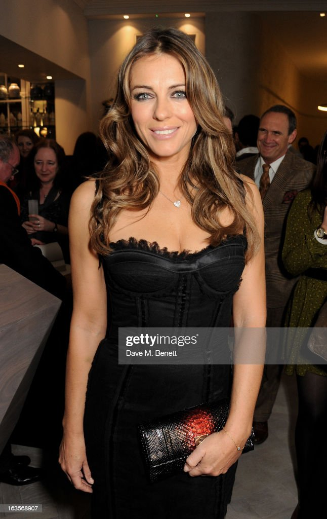 Elizabeth Hurley attends the launch of Louise Fennell's new book 'Fame Game' at Grace Belgravia on March 12, 2013 in London, England.