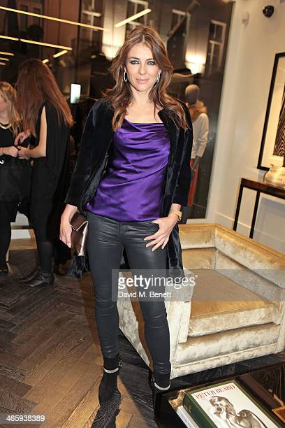 Elizabeth Hurley attends the launch of the Amanda Wakeley London flagship store on January 30 2014 in London England