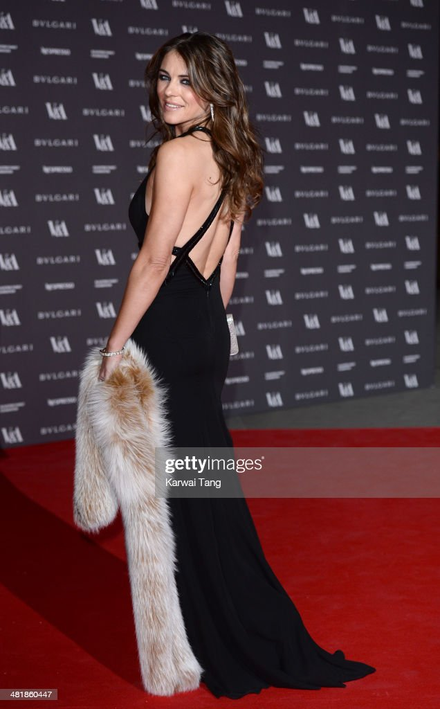 <a gi-track='captionPersonalityLinkClicked' href=/galleries/search?phrase=Elizabeth+Hurley&family=editorial&specificpeople=201731 ng-click='$event.stopPropagation()'>Elizabeth Hurley</a> attends the preview of The Glamour of Italian Fashion exhibition at the Victoria & Albert Museum on April 1, 2014 in London, England.