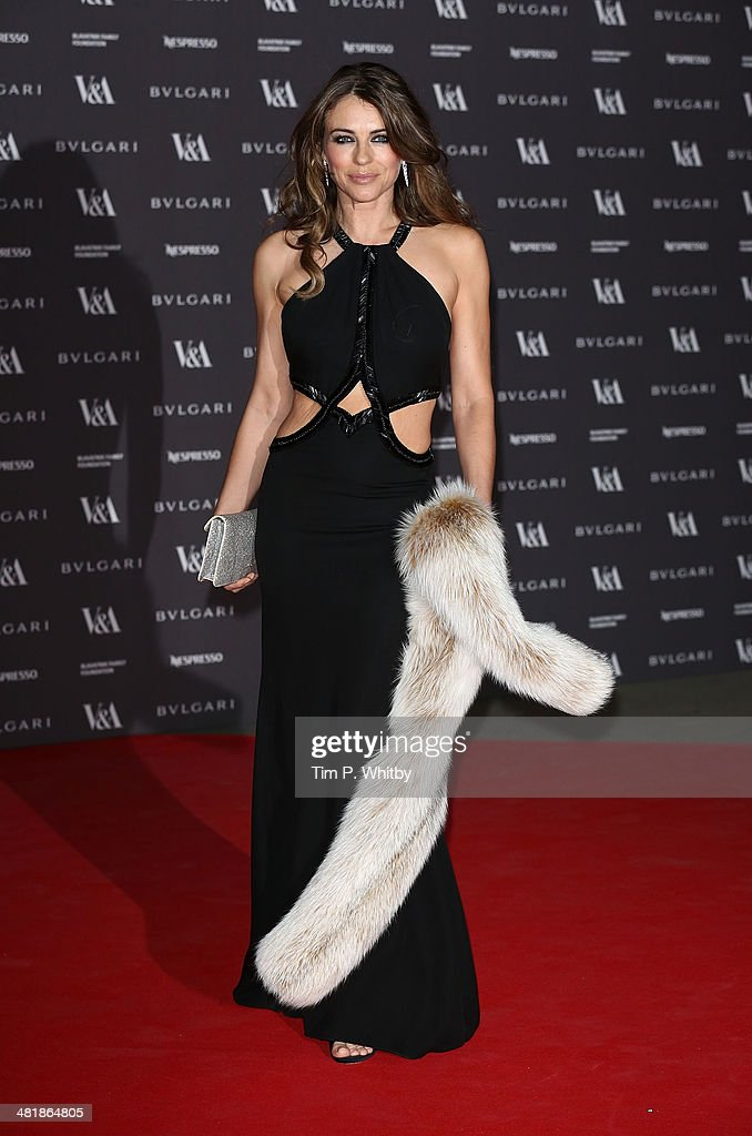 <a gi-track='captionPersonalityLinkClicked' href=/galleries/search?phrase=Elizabeth+Hurley&family=editorial&specificpeople=201731 ng-click='$event.stopPropagation()'>Elizabeth Hurley</a> attends the preview of The Glamour of Italian Fashion exhibition at Victoria & Albert Museum on April 1, 2014 in London, England.