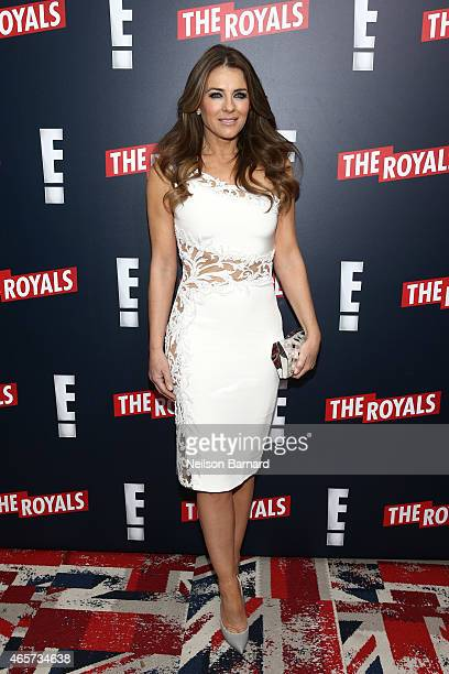Elizabeth Hurley attends 'The Royals' New York Series Premiere at The Standard Highline on March 9 2015 in New York City