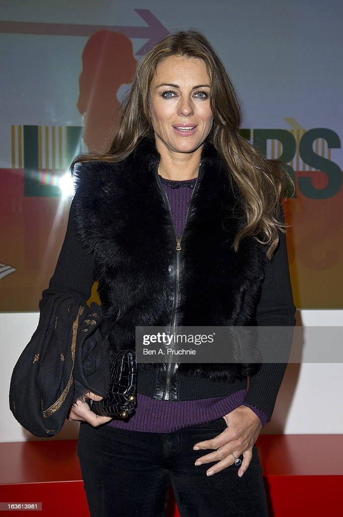 Elizabeth Hurley attends the screening of Tania Bryer's CNBC interview with former President Bill Clinton on March 13, 2013 in London, England.