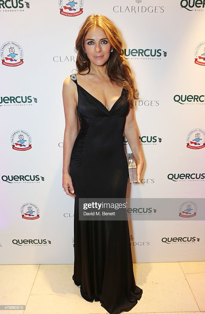 Elizabeth Hurley attends the Spring Gala In Aid of the Red Cross War Memorial Children's Hospital hosted by QBF and Kerzner Calliva at Claridge's Hotel on May 12, 2015 in London, England.