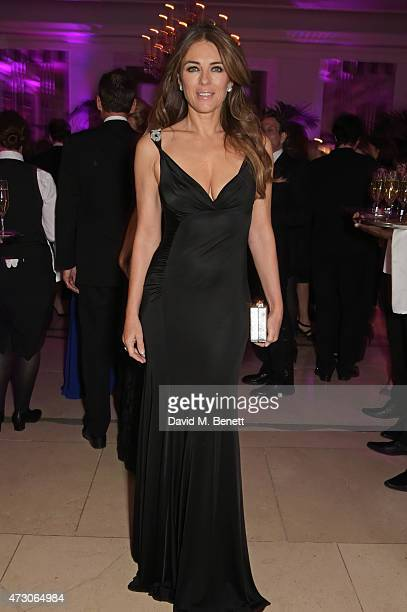 Elizabeth Hurley attends the Spring Gala In Aid of the Red Cross War Memorial Children's Hospital hosted by QBF and Kerzner Calliva at Claridge's...