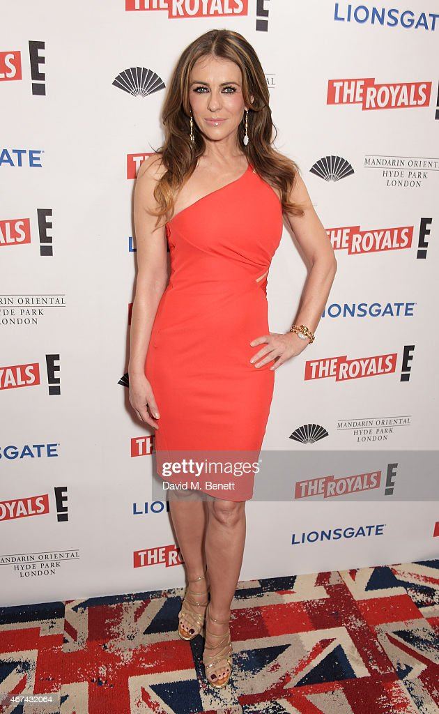 Elizabeth Hurley attends the 'The Royals' UK premiere party at the Mandarin Oriental Hyde Park on March 24, 2015 in London, England. 'The Royals' starts on E! on Wednesday 25th March at 9pm.