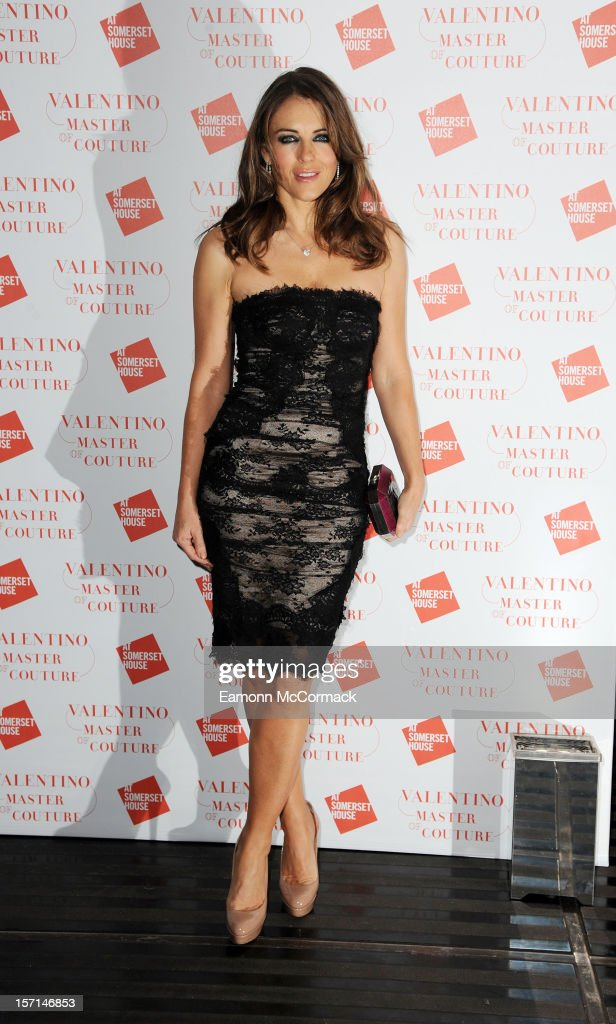 <a gi-track='captionPersonalityLinkClicked' href=/galleries/search?phrase=Elizabeth+Hurley&family=editorial&specificpeople=201731 ng-click='$event.stopPropagation()'>Elizabeth Hurley</a> attends the VIP view of Valentino: Master of Couture at Embankment Gallery on November 28, 2012 in London, England.