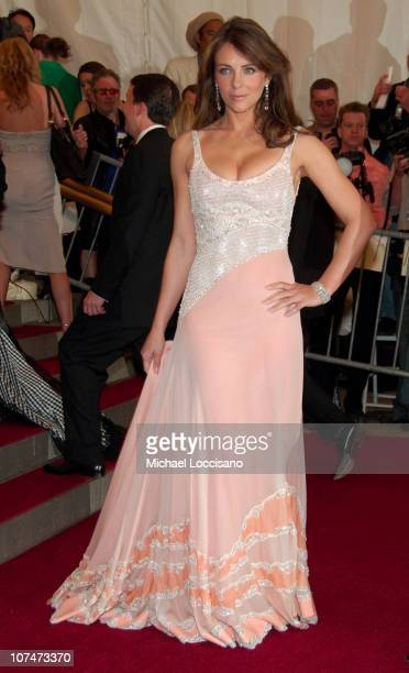Elizabeth Hurley during 'AngloMania' Costume Institute Gala at The Metropolitan Museum of Art Arrivals Celebrating 'AngloMania Tradition and...
