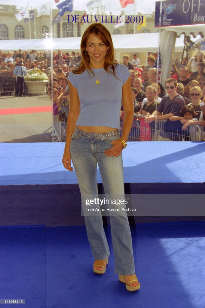 Elizabeth Hurley during Deauville 2001 Double Whammy Photocall at Centre International Deauville CID in Deauville France