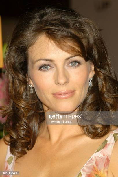 Elizabeth Hurley during Elizabeth Hurley Launches Estee Lauders Elizabeth Pink Lipstick to Benefit Breast Cancer Awareness Month at Saks Fifth Avenue...