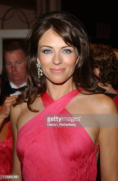 Elizabeth Hurley during HOT PINK PARTY Hosted by Elizabeth Hurley and Sir Elton John at Waldorf Astoria in New York City New York United States