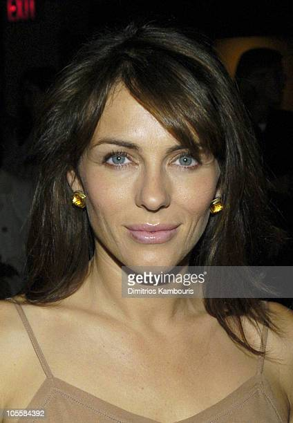 Elizabeth Hurley during Olympus Fashion Week Spring 2005 Calvin Klein Front Row at Milk Studios 450 W 15th Street in New York City New York United...