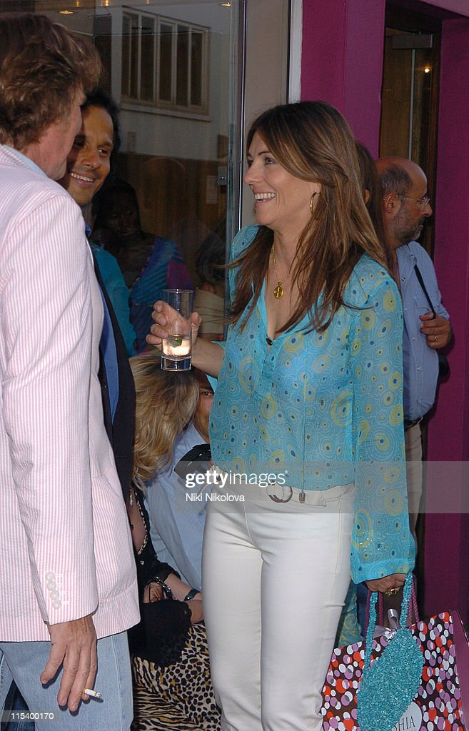 Elizabeth Hurley during Tashia Cocktail Party for Ceila Wise at Tashia Walton Street in London Great Britain