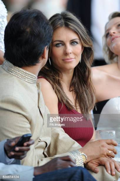 Elizabeth Hurley during the Fashion Show at The Amber Lounge Le Meridien Beach Plaza Hotel Monaco