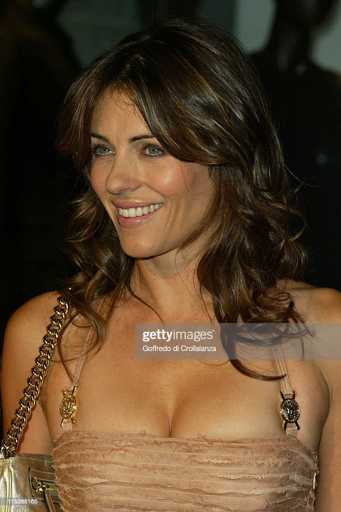Elizabeth Hurley during Versace Store Relaunch Party at Versace Sloane Street in London, Great Britain.