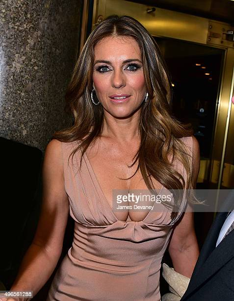 Elizabeth Hurley leaves Rockefeller Center on November 10 2015 in New York City