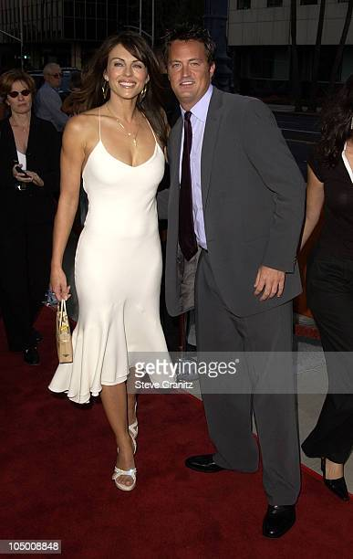 Elizabeth Hurley Matthew Perry during 'Serving Sara' Premiere at Academy Theatre in Beverly Hills California United States