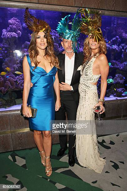 Elizabeth Hurley Patrick Cox and Tara Bernerd attend a VIP dinner to celebrate The Animal Ball 2016 presented by Elephant Family at Sexy Fish on...