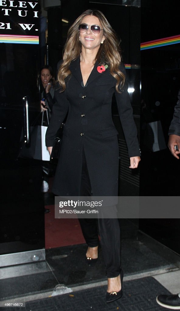 Elizabeth Hurley seen after an appearance on The Wendy Williams Show on November 11 2015 in New York City