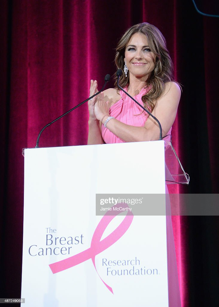 <a gi-track='captionPersonalityLinkClicked' href=/galleries/search?phrase=Elizabeth+Hurley&family=editorial&specificpeople=201731 ng-click='$event.stopPropagation()'>Elizabeth Hurley</a> speaks onstage at The Breast Cancer Foundation's 2014 Hot Pink Party at Waldorf Astoria Hotel on April 28, 2014 in New York City.