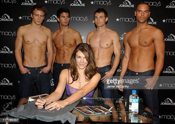Elizabeth Hurley with Jordache Models during Elizabeth Hurley Launches Jordache at Macy's Herald Square at Macy's Herald Square in New York City New...