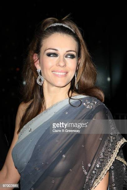 Elizabeth HurleyNayar arrivves at the Love Ball in aid of The Naked Heart Foundation at The Roundhouse on February 23 2010 in London England The...