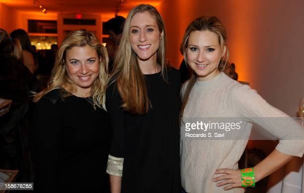 Elizabeth Jacoby Summer Woodson Berg and Kristin Dittmar attend Angie Stewart Carolyn Powers Mona LookMazza And Richard Edwards host an exclusive...