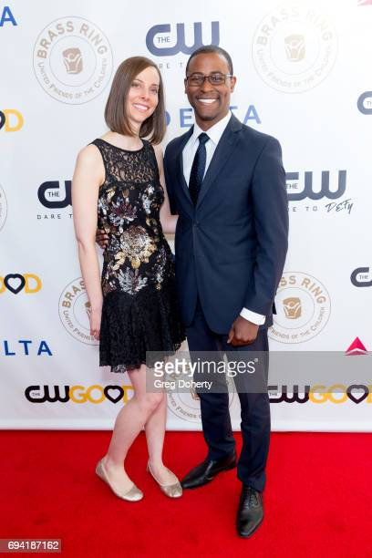 Elizabeth Kesner and Tray Thompson attend the 14th Annual Brass Ring Awards Dinner at The Beverly Hilton Hotel on June 8 2017 in Beverly Hills...