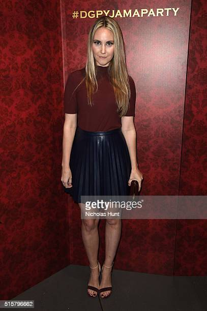 Elizabeth Kurpis attends the Dolce Gabbana pyjama party at 5th Avenue Boutique on March 15 2016 in New York City