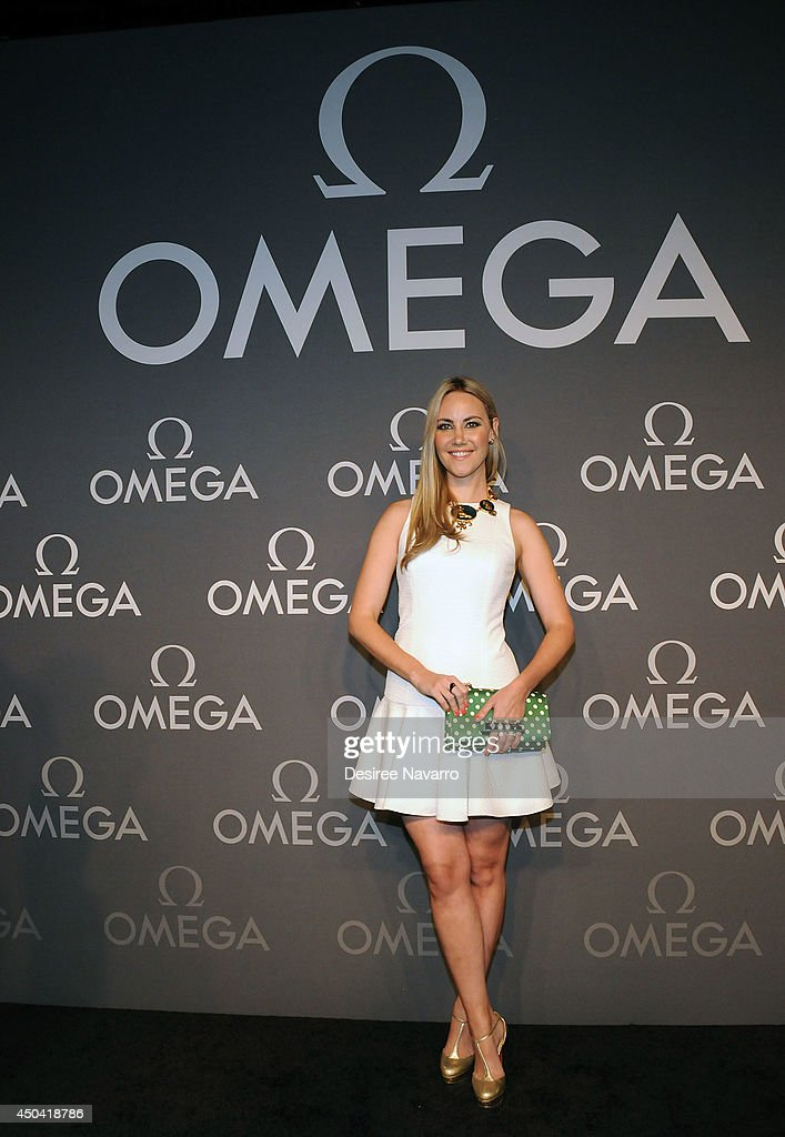 Elizabeth Kurpis attends the OMEGA Speedmaster Dark Side of the Moon launch at Cedar Lake on June 10, 2014 in New York City.