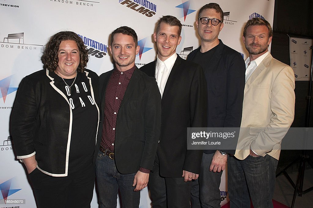 Elizabeth Levine, <a gi-track='captionPersonalityLinkClicked' href=/galleries/search?phrase=Elijah+Wood&family=editorial&specificpeople=171364 ng-click='$event.stopPropagation()'>Elijah Wood</a>, Adrian Salpeter, <a gi-track='captionPersonalityLinkClicked' href=/galleries/search?phrase=Daniel+Noah&family=editorial&specificpeople=10948795 ng-click='$event.stopPropagation()'>Daniel Noah</a>, and Josh Waller attends the premiere of 'Toad Road' at Arena Cinema Hollywood on October 18, 2013 in Hollywood, California.