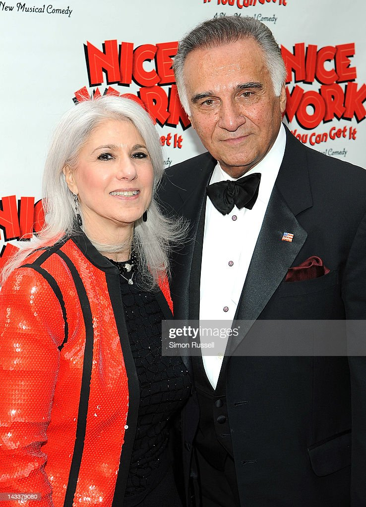 Elizabeth LoBianca and Tony LoBianca attend the 'Nice Work If You Can Get It' Broadway opening night at the Imperial Theatre on April 24, 2012 in New York City.