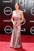Elizabeth Marks arrives at The 2016 ESPYS at Microsoft Theater on July 13 2016 in Los Angeles California