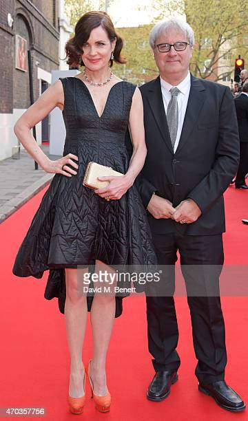 Elizabeth McGovern and Simon Curtis arrive at The Old Vic for A Gala Celebration in Honour of Kevin Spacey as the artistic director's tenure comes to...
